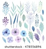 watercolor  flower collection.... | Shutterstock . vector #478556896