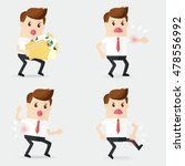 business man holding a lot of... | Shutterstock .eps vector #478556992