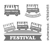 food truck emblems  icons | Shutterstock . vector #478565455