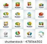 vector set of abstract unusual... | Shutterstock .eps vector #478566502