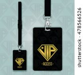 set of lanyard and badge.... | Shutterstock .eps vector #478566526