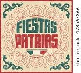 fiestas patrias   national... | Shutterstock .eps vector #478567366