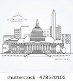 linear illustration of... | Shutterstock .eps vector #478570102