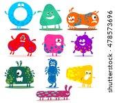 big vector set of  cute... | Shutterstock .eps vector #478573696