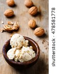 homemade oatmeal and walnut ice ... | Shutterstock . vector #478581778