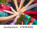 close up of many children's... | Shutterstock . vector #478583482