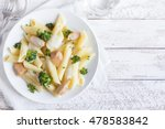 italian pasta penne with... | Shutterstock . vector #478583842