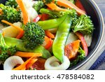 healthy stir fried vegetables... | Shutterstock . vector #478584082