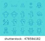 plastic surgery concept thin... | Shutterstock .eps vector #478586182