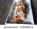 cooked prawns arranged on a... | Shutterstock . vector #478588216