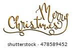 merry christmas gold metallic... | Shutterstock . vector #478589452