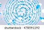 3d rotating  isolated blue and... | Shutterstock . vector #478591192