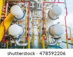 gas cooler at oil and gas... | Shutterstock . vector #478592206