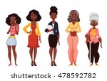set of black women of different ... | Shutterstock . vector #478592782