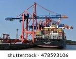 hamburg  germany   aug 27  port ... | Shutterstock . vector #478593106