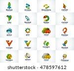 vector set of abstract unusual... | Shutterstock .eps vector #478597612