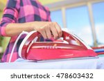 the woman to iron the clothes... | Shutterstock . vector #478603432