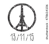 hand drawn peace for paris... | Shutterstock .eps vector #478614106