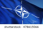 nato flag waving against clean... | Shutterstock . vector #478615066