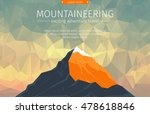 landscape with mountain peaks... | Shutterstock .eps vector #478618846