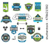 set of colorful fitness and... | Shutterstock .eps vector #478621582