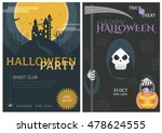 halloween trick or treat... | Shutterstock .eps vector #478624555