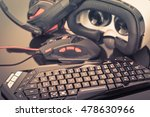a gaming keyboard  mouse ... | Shutterstock . vector #478630966