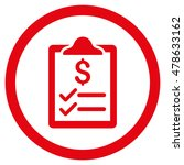 invoice pad rounded icon.... | Shutterstock .eps vector #478633162