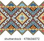 embroidered old handmade cross... | Shutterstock .eps vector #478636072