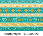 decorative persian borders done ... | Shutterstock .eps vector #478636822