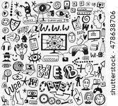 web doodles | Shutterstock .eps vector #478638706