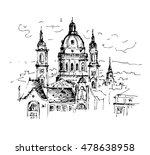 hand drawn st. stephen's... | Shutterstock .eps vector #478638958