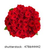 Stock photo beautiful red roses bouquet isolated on white 478644442