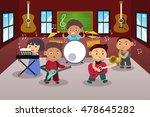 a vector illustration of kids... | Shutterstock .eps vector #478645282