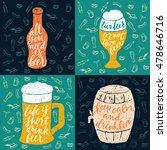 set of 4 hand lettering phrases ...   Shutterstock .eps vector #478646716