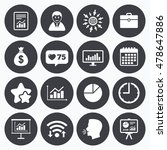 calendar  wifi and clock... | Shutterstock .eps vector #478647886
