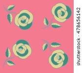 summer vintage floral greeting... | Shutterstock .eps vector #478656142