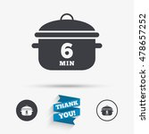 boil 6 minutes. cooking pan... | Shutterstock .eps vector #478657252