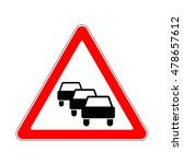 road sign warning traffic... | Shutterstock .eps vector #478657612