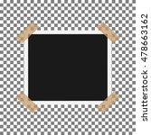blank photo frame with adhesive ...   Shutterstock .eps vector #478663162