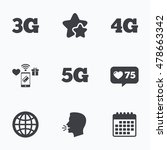 mobile telecommunications icons.... | Shutterstock .eps vector #478663342
