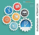 education concept design gear... | Shutterstock .eps vector #478664116