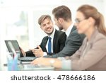 business people working on... | Shutterstock . vector #478666186
