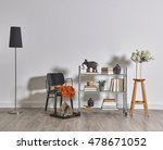 modern bookcase and accessories ... | Shutterstock . vector #478671052