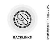 backlinks icon isolated on the... | Shutterstock . vector #478672192