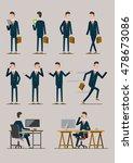 characters businessman gestures   Shutterstock .eps vector #478673086