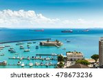 Aerial View Of Salvador Bay In...