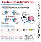 arterial blood pressure info... | Shutterstock .eps vector #478674232
