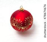 fragile glass red christmas ball | Shutterstock . vector #478674676