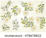 set of flowers on white ...   Shutterstock .eps vector #478678822